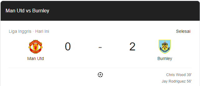 MU Dipecundangi Burnley di Old Trafford